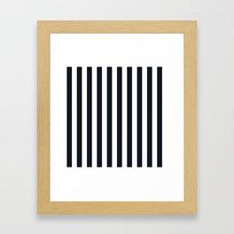 Vertical Stripes Black & White Framed Art Print