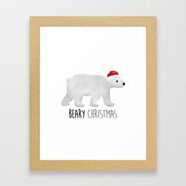 Beary Christmas | Polar Bear Framed Art Print
