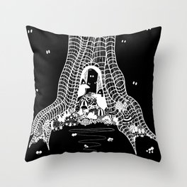 You'll be Safer in Here Throw Pillow