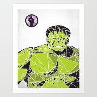 hulk Art Prints featuring Hulk by Josh Ln