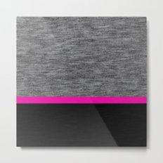 Athletic Grey and Pink Metal Print