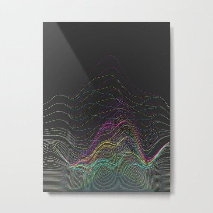 Pretty Little Lines Metal Print