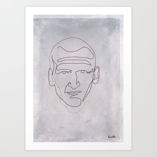 One line Doctor Who (Christopher Eccleston) Art Print