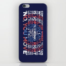 Civil War Quote iPhone Skin