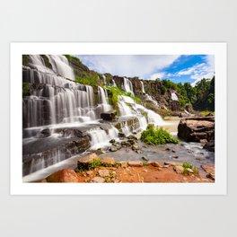 Pongour waterfall, Dalat, Vietnam Art Print