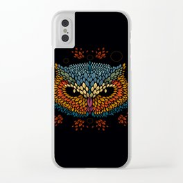 Owl Face Clear iPhone Case