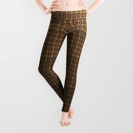 Brown plaid Leggings