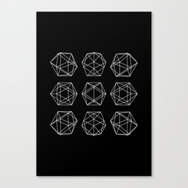 Icosahedron Canvas Print