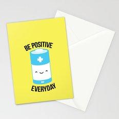 Positive battery Stationery Cards