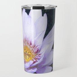 Blue Lotus Flower Travel Mug