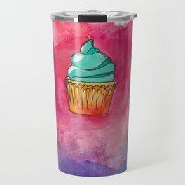 Watercolor Cupcake Travel Mug