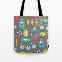 aliens Tote Bags featuring Aliens by Jill Byers
