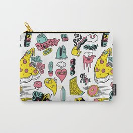 Weirdo Pizza Donut Sword Skull Pattern Carry-All Pouch