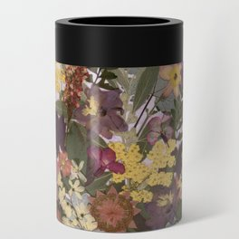 Pressed Flower English Garden Can Cooler