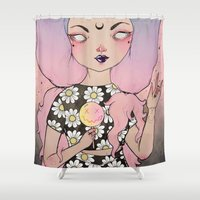 flora Shower Curtains featuring Flora by lOll3