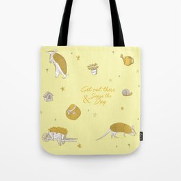 Yellow armadillo pattern Tote Bag