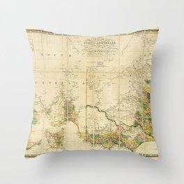 Map of South Australia (1850) Throw Pillow
