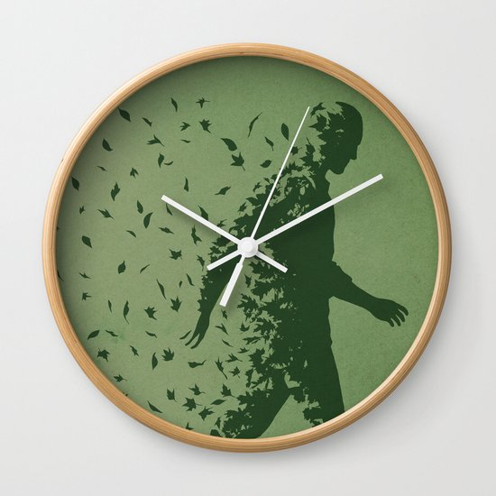 Blown Away Wall Clock