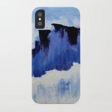 Cold Blue iPhone X Slim Case