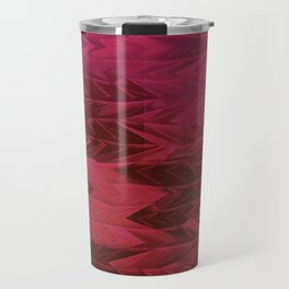 Red Faded Chevron Travel Mug