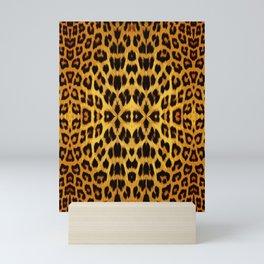 Leopard Print - Rust Mini Art Print