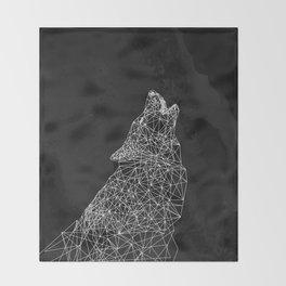 Midnight Wolf Throw Blanket