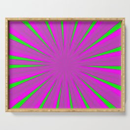 Sparkle Neon Pink Fuchsia Lime Serving Tray