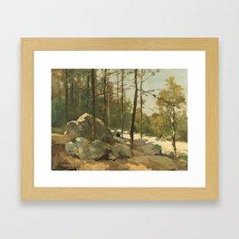 Wooded View near Barbizon - Johan Hendrik Weissenbruch (1900) Framed Art Print