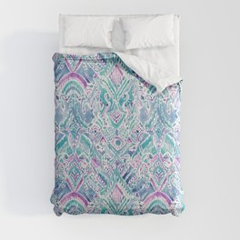 UNICORN DAYDREAMS Mythical Watercolor Tapestry Comforters