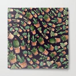 Cactus Waves Metal Print