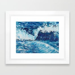 Crest of a Wave Framed Art Print
