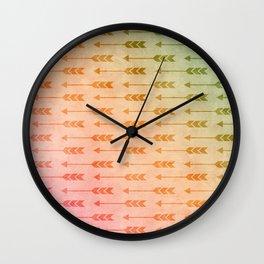 Aztec Pattern 03 Wall Clock
