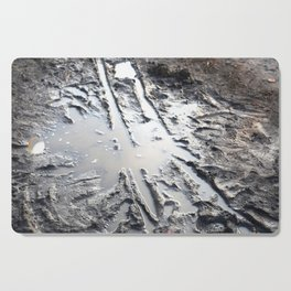 muddy puddle abstract Cutting Board