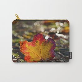 Autumn Maple Leaf with Bokeh Background Carry-All Pouch