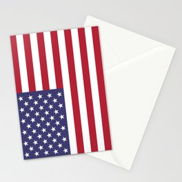US Flag - Authentic colors Stationery Cards