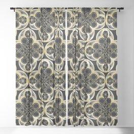 Golden Moroccan Tile Glam #1 #pattern #decor #art #society6 Sheer Curtain
