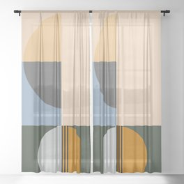 Contemporary 40 Sheer Curtain