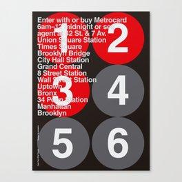 New York City Subway Poster Canvas Print