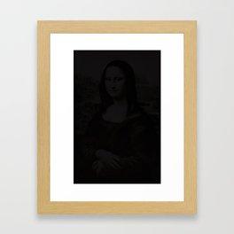 mona lisa in the dark Framed Art Print