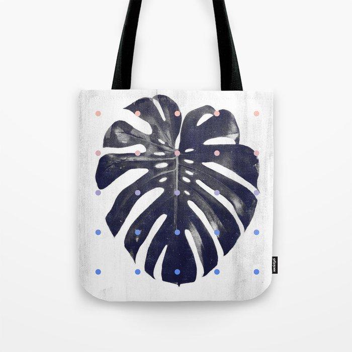 monstera + dots Tote Bag