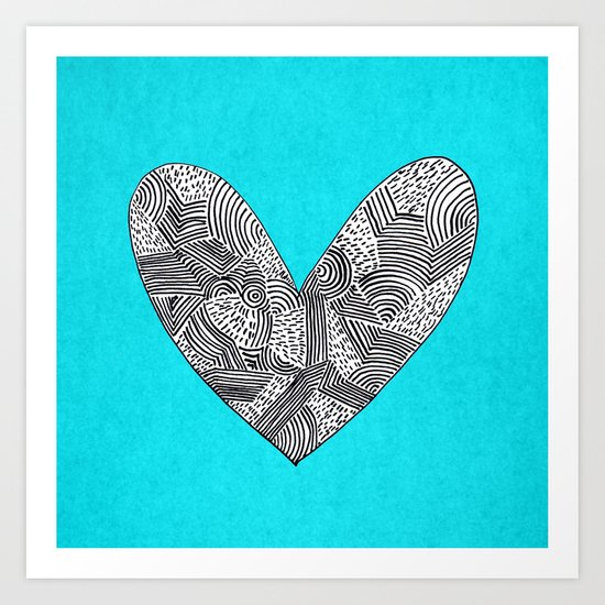 Patterned Heart Art Print