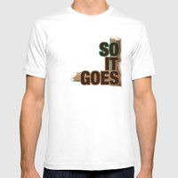 So It Goes.... MEDIUM Mens Fitted Tee White