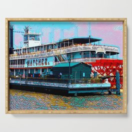Natchez Riverboat New Orleans Serving Tray
