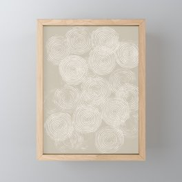 Radial Block Print in Tan Framed Mini Art Print