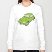 vw Long Sleeve T-shirts featuring VW Beetle by tuditees