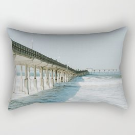 Ocean Beach Boardwalk Rectangular Pillow