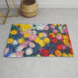 Chrysanthemums - Claude Monet 1897 Rug