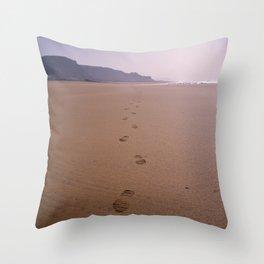 THE WHOLE BEACH TO MYSELF Throw Pillow