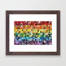 Literary LGBT Pride Month Flag Framed Art Print