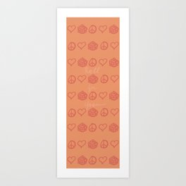 Peace Love and d20s Art Print